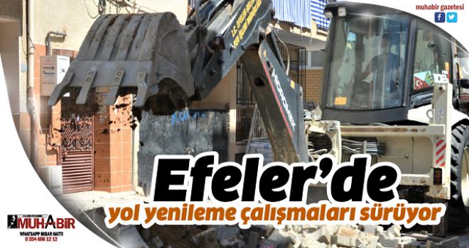 Efeler'de yol yenileme çalışmaları sürüyor