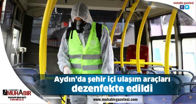Aydın'da şehir içi ulaşım araçları dezenfekte edildi