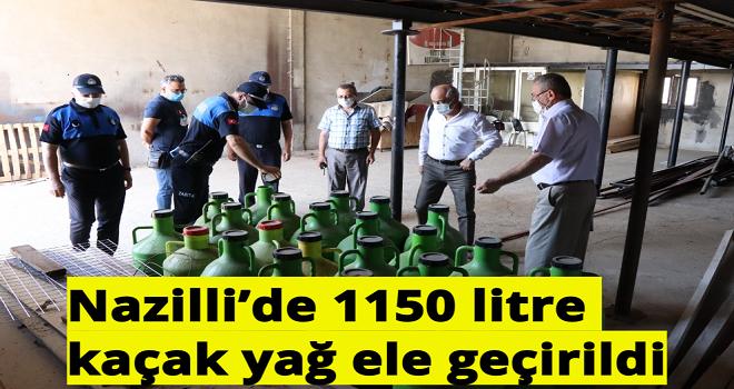 Nazilli'de 1150 litre kaçak yağ ele geçirildi
