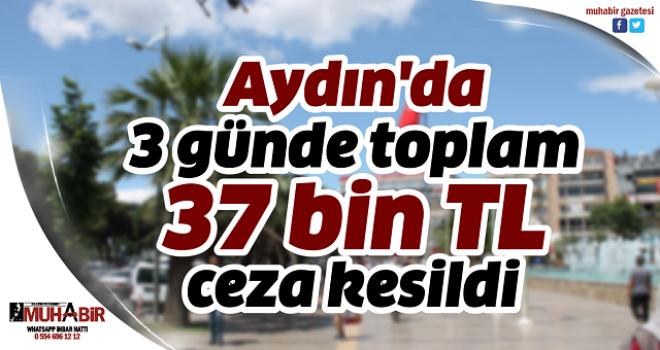 Aydın'da 3 günde toplam 37 bin TL ceza kesildi