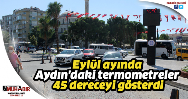 Eylül ayında Aydın'daki termometreler 45 dereceyi gösterdi