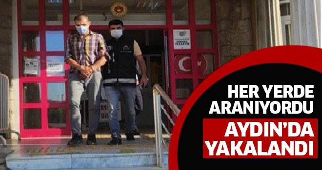 Aranan şahıs Aydın'da yakalandı