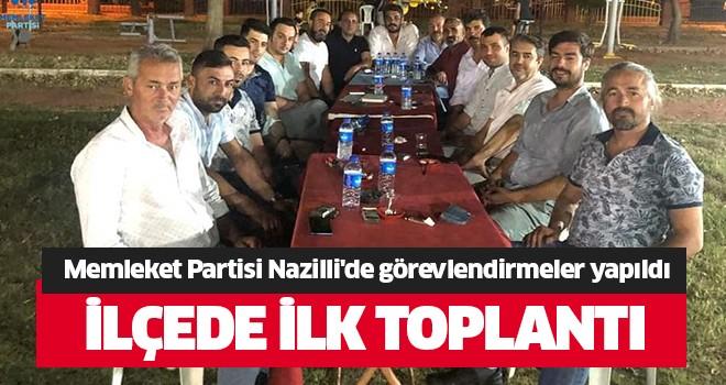 Memleket Partisi Nazilli'de görevlendirmeler yapıldı