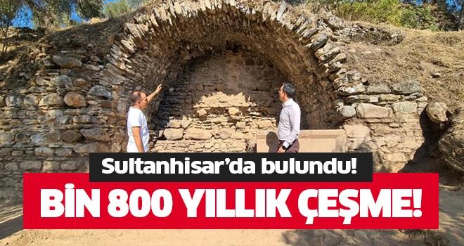 Bin 800 yıllık tarihi çeşme bulundu