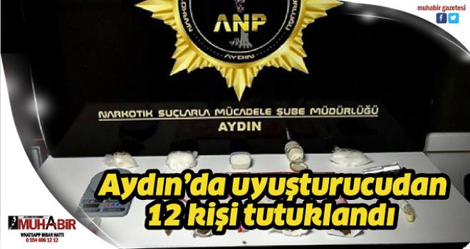 Aydın'da uyuşturucudan 12 kişi tutuklandı