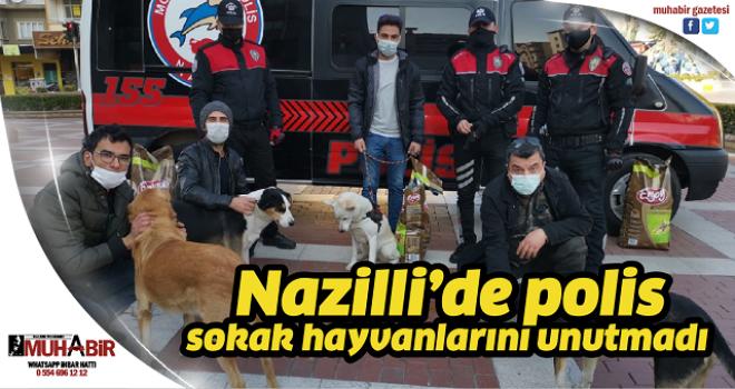 Nazilli'de polis sokak hayvanlarını unutmadı