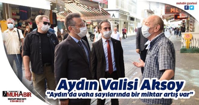 """Aydın Valisi Aksoy, """"Aydın'da vaka sayılarında bir miktar artış var"""""""