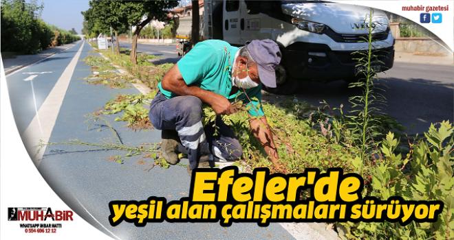 Efeler'de yeşil alan çalışmaları sürüyor