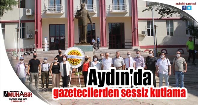 Aydın'da gazetecilerden sessiz kutlama