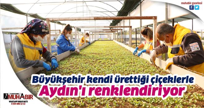 Büyükşehir kendi ürettiği çiçeklerle Aydın'ı renklendiriyor