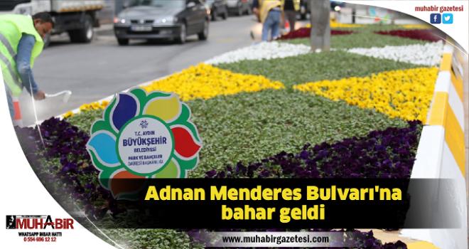Adnan Menderes Bulvarı'na bahar geldi