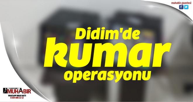 Didim'de kumar operasyonu