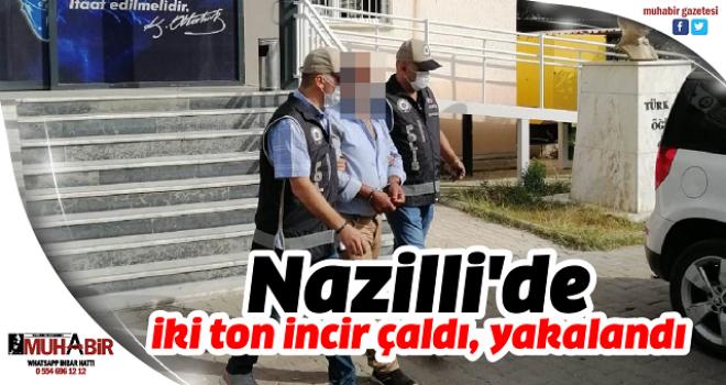 Nazilli'de iki ton incir çaldı, yakalandı