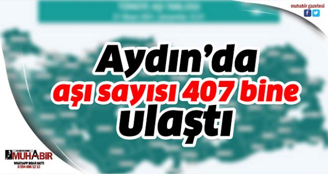 Aydın'da aşı sayısı 407 bine ulaştı