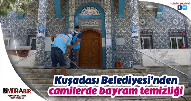 Kuşadası Belediyesi'nden camilerde bayram temizliği