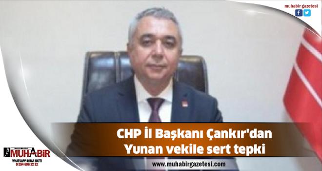 CHP İl Başkanı Çankır'dan Yunan vekile sert tepki
