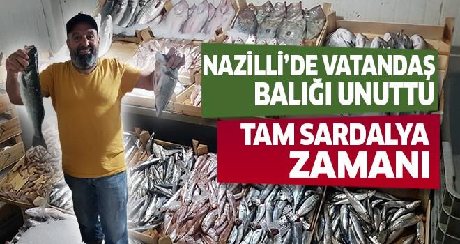 Nazilli'de vatandaş balığı unuttu