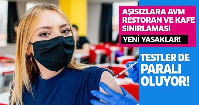 Aşısızlara AVM, restoran ve kafe sınırlaması