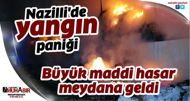 Nazilli'de yangın paniği