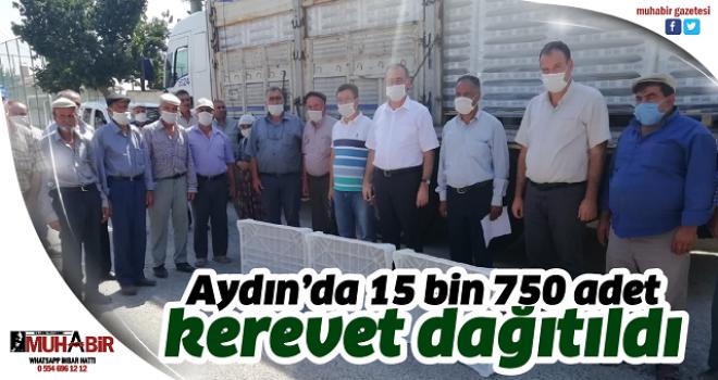 Aydın'da 15 bin 750 adet kerevet dağıtıldı