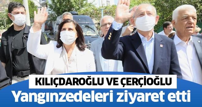 Çerçioğlu ve Kılıçdaroğlu yangınzedeleri ziyaret etti