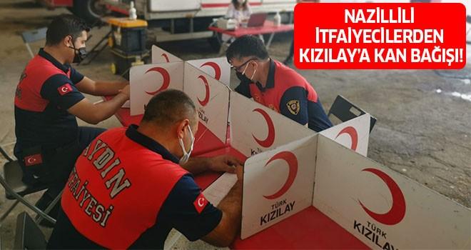 Nazillili itfaiyecilerden Kızılay'a kan bağışı!