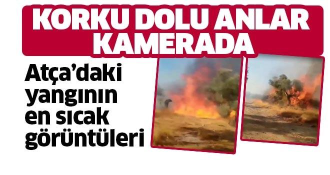 Atça'daki yangının en sıcak görüntüleri