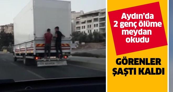 Aydın'da gençler ölüme meydan okudu