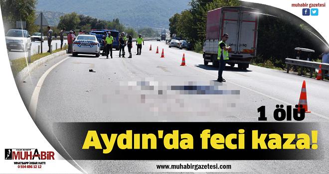 Aydın'da feci kaza! 1 ölü
