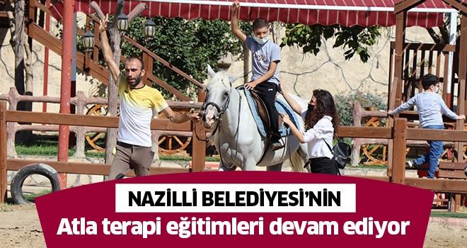 Nazilli Belediyesi'nin atla terapi eğitimleri devam ediyor