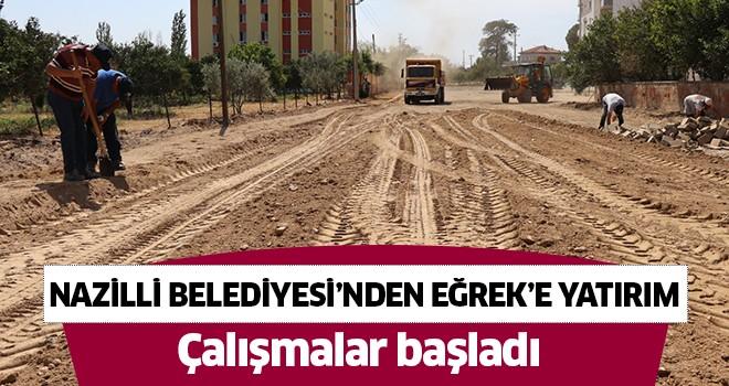 Nazilli Belediyesi'nden Eğrek'e yatırım