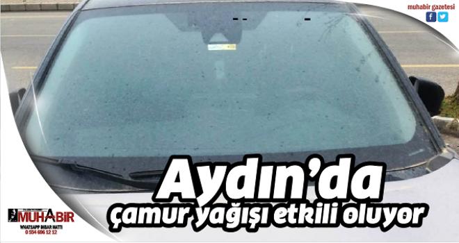 Aydın'da çamur yağışı etkili oluyor
