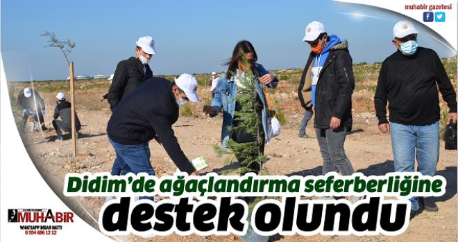 Didim'de ağaçlandırma seferberliğine destek olundu