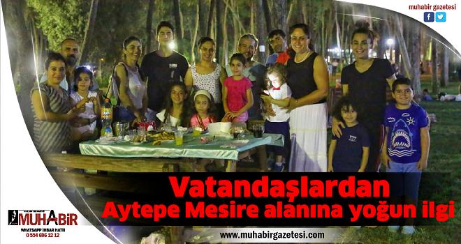 Vatandaşlardan Aytepe Mesire alanına yoğun ilgi
