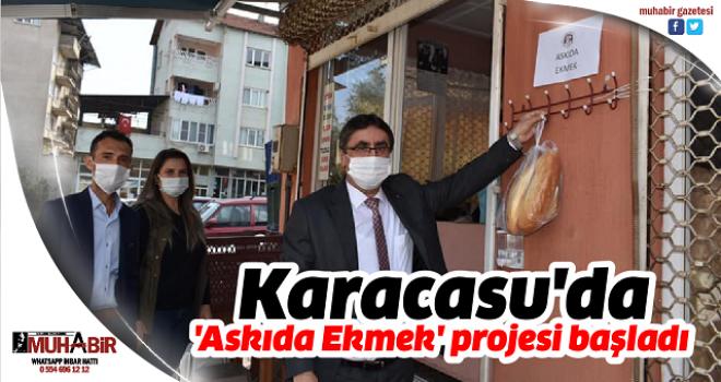 Karacasu'da 'Askıda Ekmek' projesi başladı