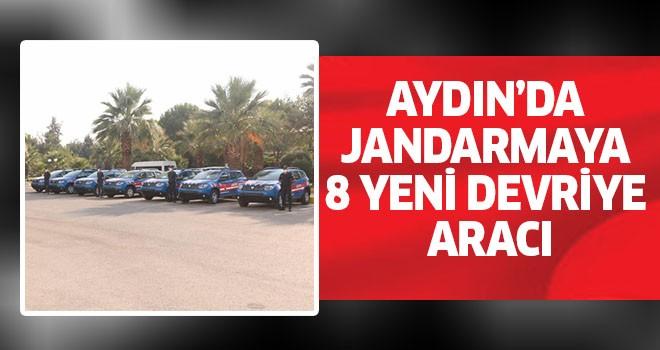 Aydın'da jandarmaya 8 yeni devriye aracı