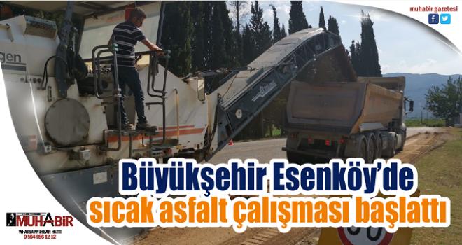 Büyükşehir Esenköy'de sıcak asfalt çalışması başlattı