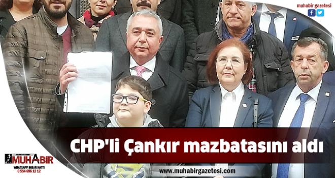 CHP'li Çankır mazbatasını aldı