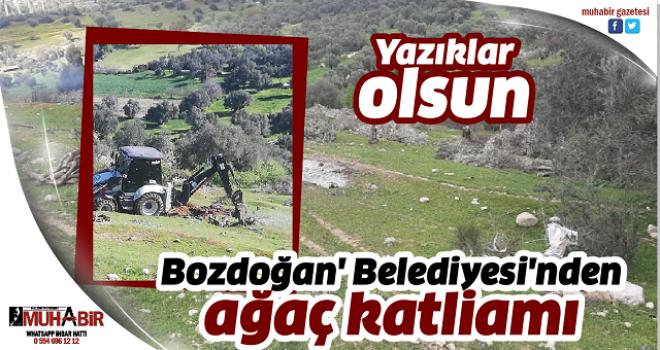Bozdoğan' Belediyesi'nden ağaç katliamı