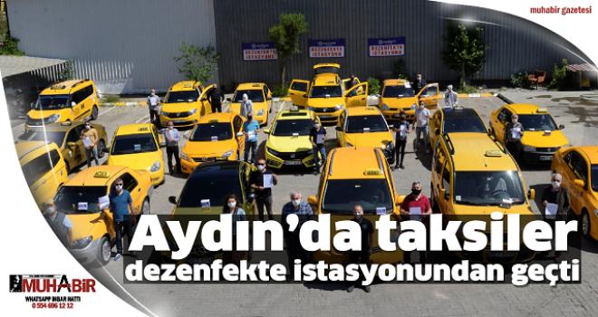 Aydın'da taksiler dezenfekte istasyonundan geçti