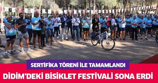 Didim'deki bisiklet festivali sona erdi