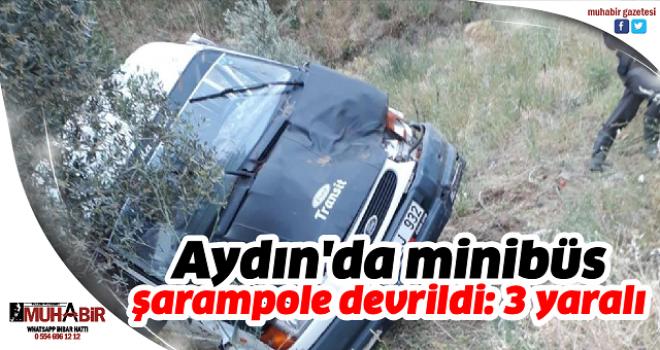 Aydın'da minibüs şarampole devrildi: 3 yaralı
