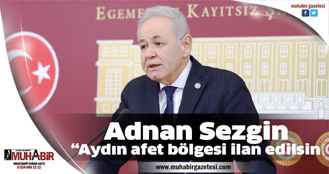 """Adnan Sezgin; """"Aydın afet bölgesi ilan edilsin"""