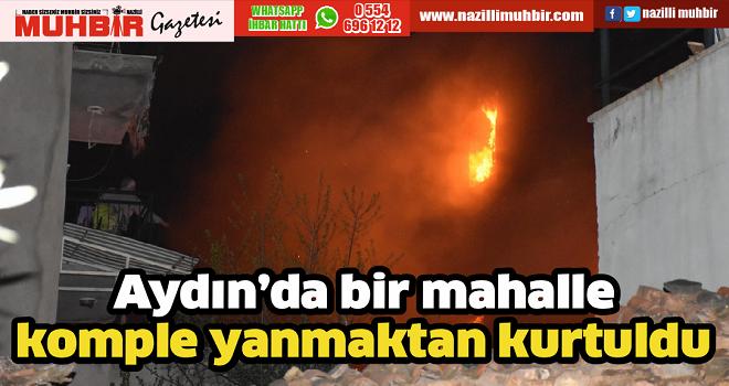 Aydın'da bir mahalle komple yanmaktan kurtuldu