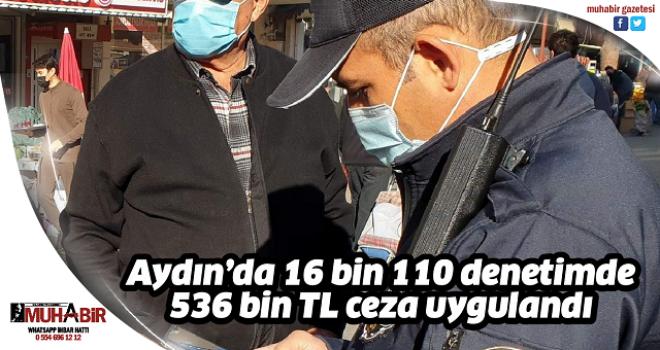 Aydın'da 16 bin 110 denetimde 536 bin TL ceza uygulandı