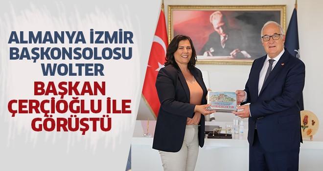 Almanya İzmir Başkonsolosu Wolter, Başkan Çerçioğlu ile görüştü