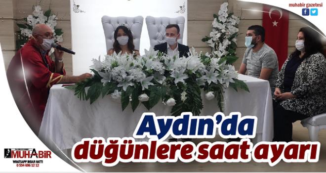 Aydın'da düğünlere saat ayarı