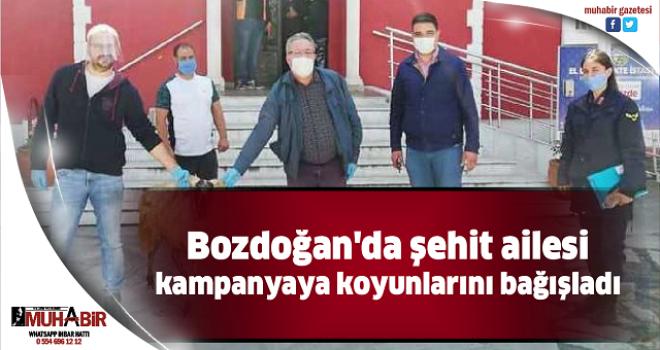Bozdoğan'da şehit ailesi kampanyaya koyunlarını bağışladı