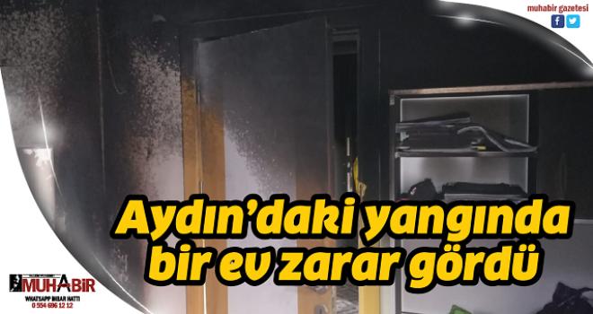 Aydın'daki yangında bir ev zarar gördü