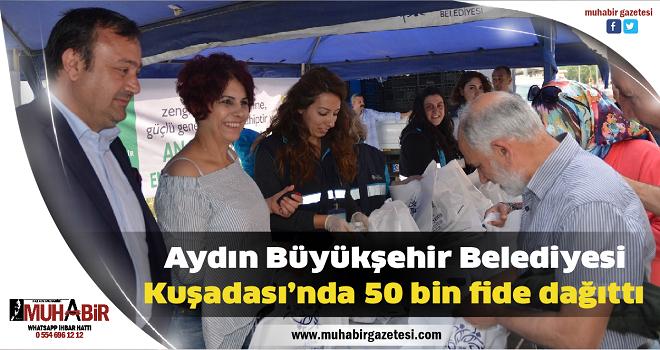Aydın Büyükşehir Belediyesi Kuşadası'nda 50 bin fide dağıttı